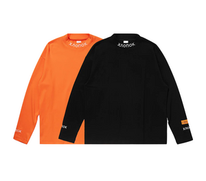 Streetwear-Collar Stitch Turtleneck Long Sleeve-Shirts-Scattered, LLC