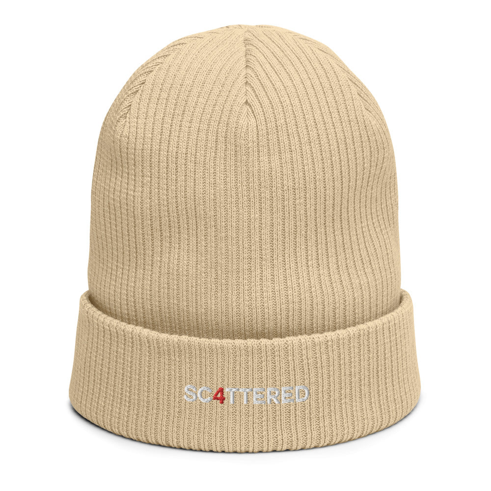 Organic 4 Year Anniversary Embroidered Beanie