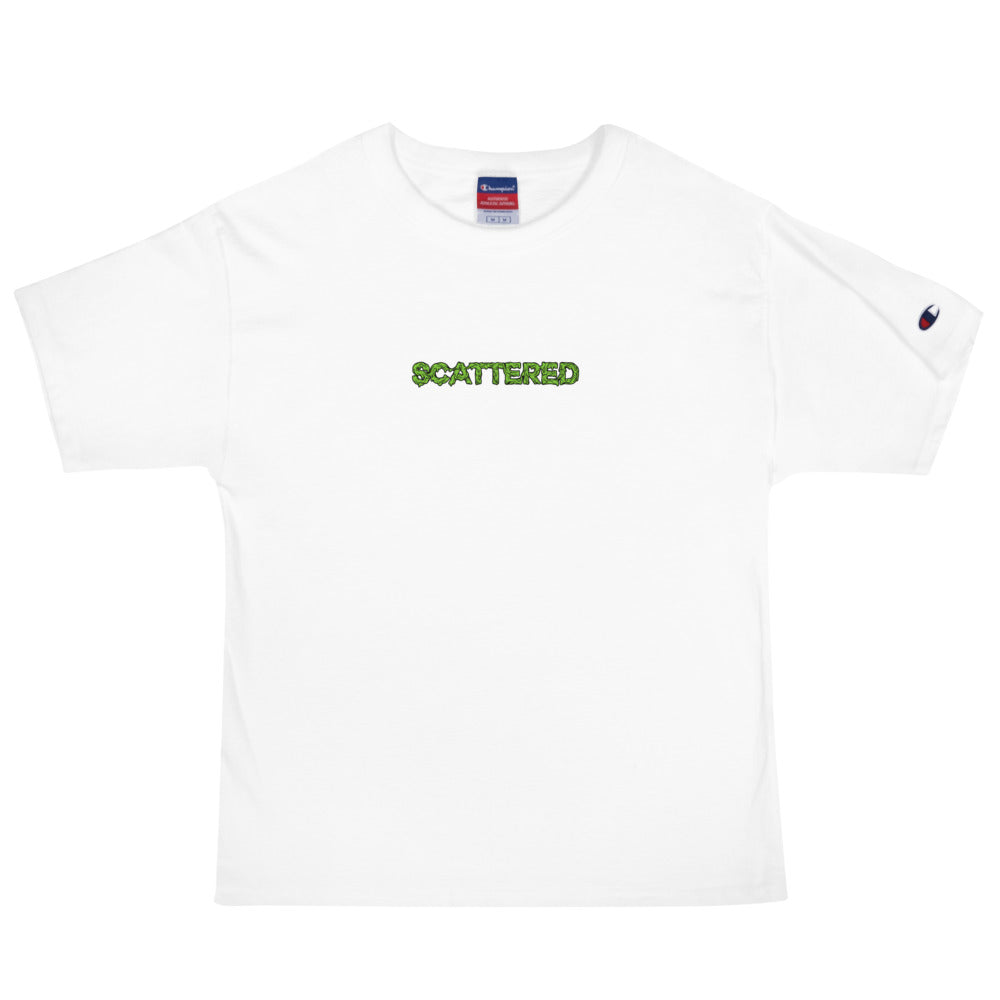 Scattered x Dripped Gawd x Champion Logo Tee