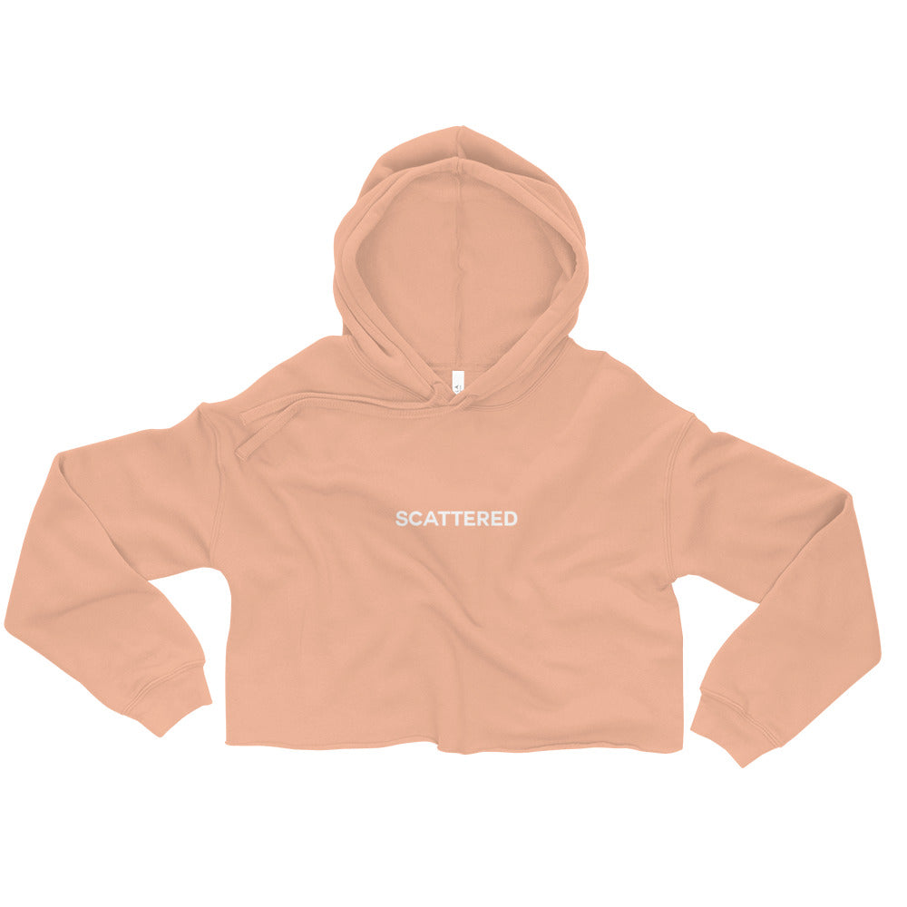 Streetwear-Scattered Logo Crop Hoodie-Scattered, LLC
