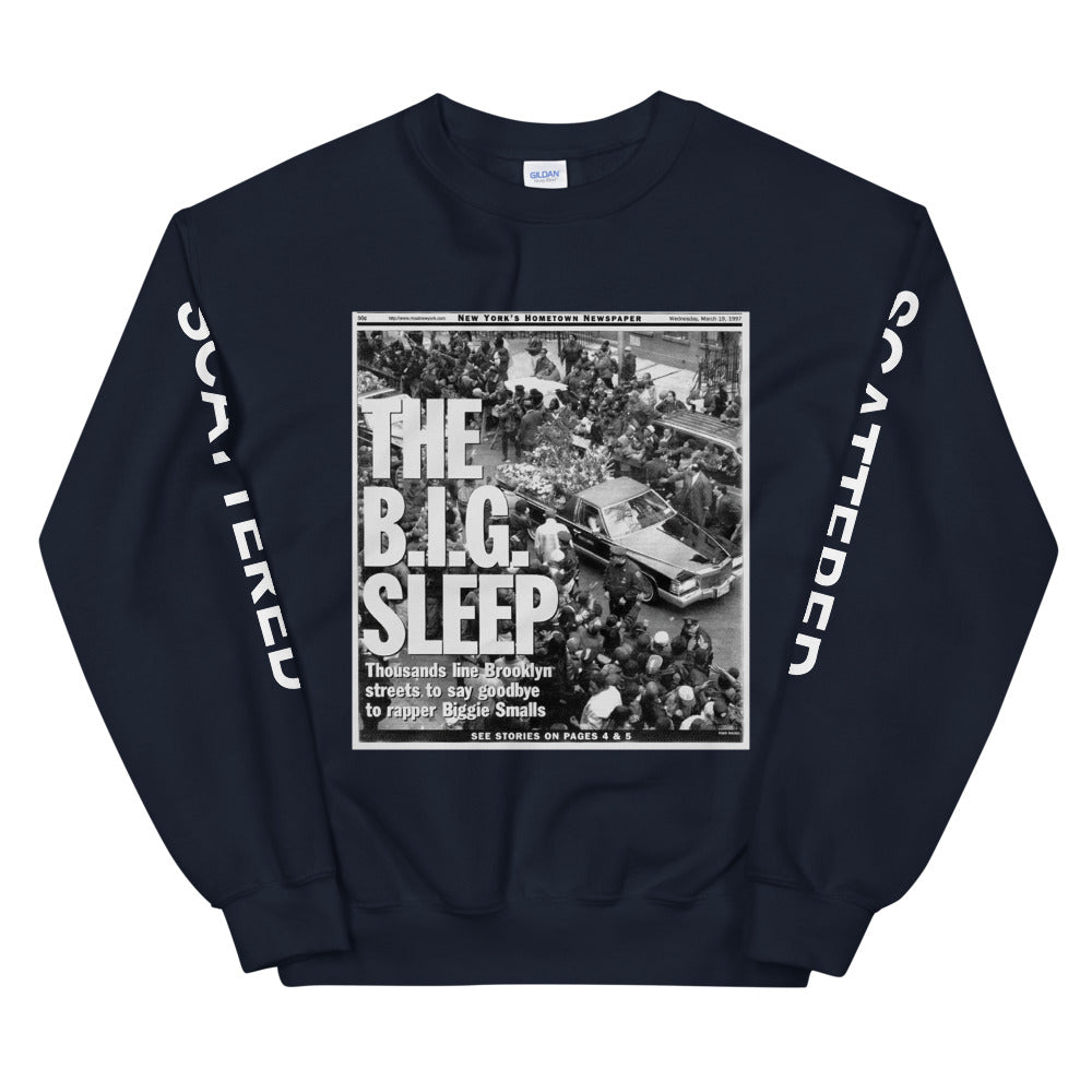 """The B.I.G. Sleep"" Headline Crewneck"
