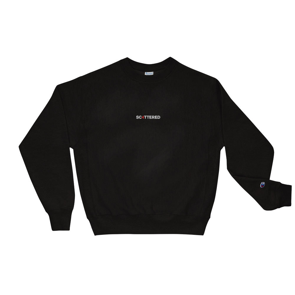 Scattered 4 Year Anniversary Embroidered Crewneck