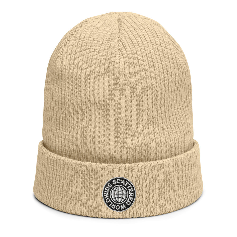 Organic Worldwide Embroidered Beanie