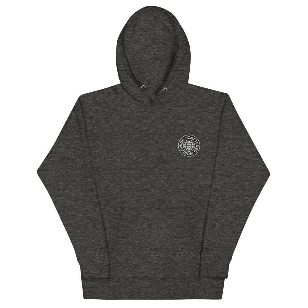 Scattered Embroidered Logo Hoodie