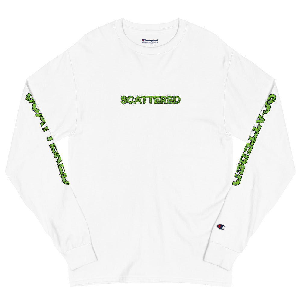 Scattered x Dripped Gawd x Champion Logo Shirt