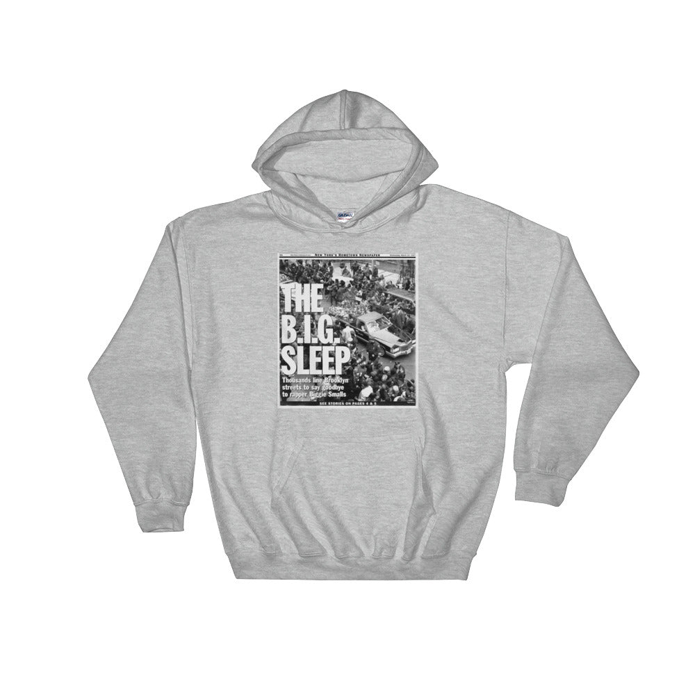 "Streetwear-""The B.I.G. Sleep"" Headline Hoodie-Scattered, LLC"