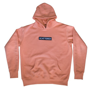 Streetwear-Handsewn Salmon Scattered Box Logo-Hoodie-Scattered, LLC