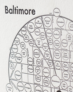 Baltimore Map Print