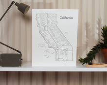 California Map Print