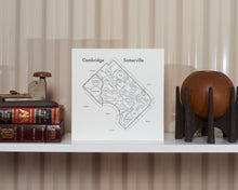 Cambridge & Somerville Map Print