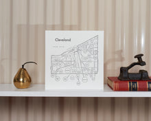 Cleveland Map Print