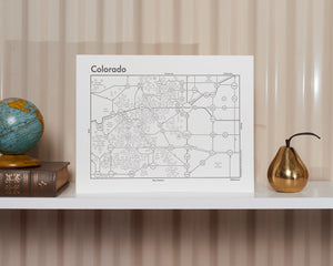 Colorado Map Print
