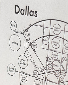 Dallas Map Print