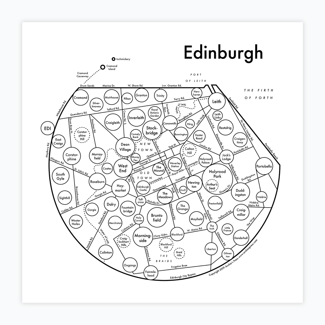 Edinburgh Map Print