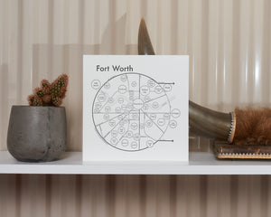 Fort Worth Map Print