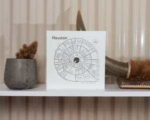 Houston Map Print