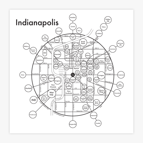 Indianapolis Map Print