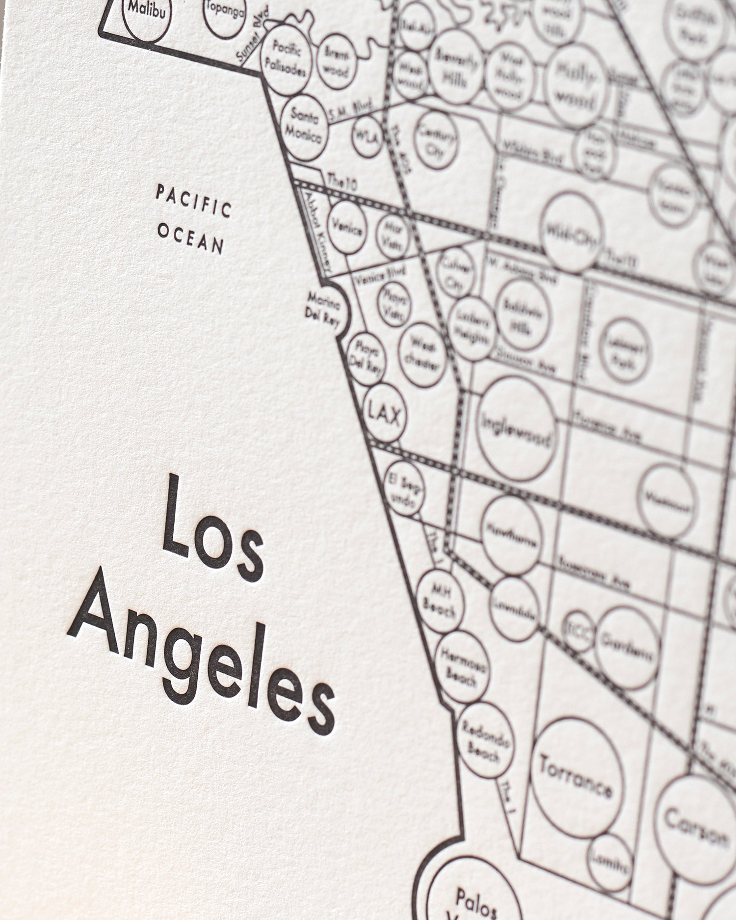 photograph about Printable Map of Los Angeles identified as Los Angeles Map Print