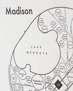 Madison Wisconsin Map Print