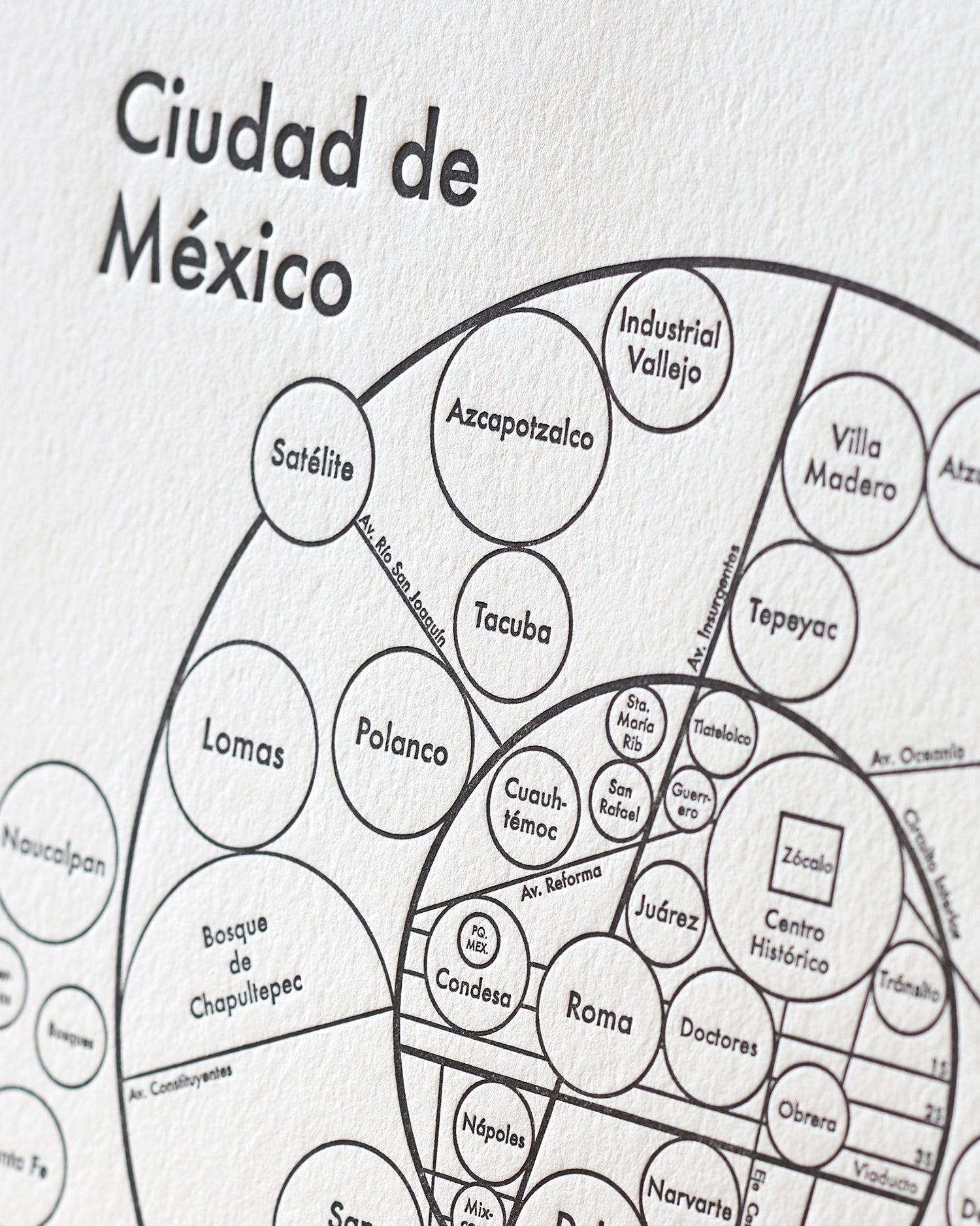 image about Printable Maps of Mexico titled Mexico Metropolis Map Print