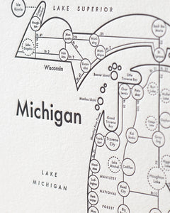 Michigan Map Print