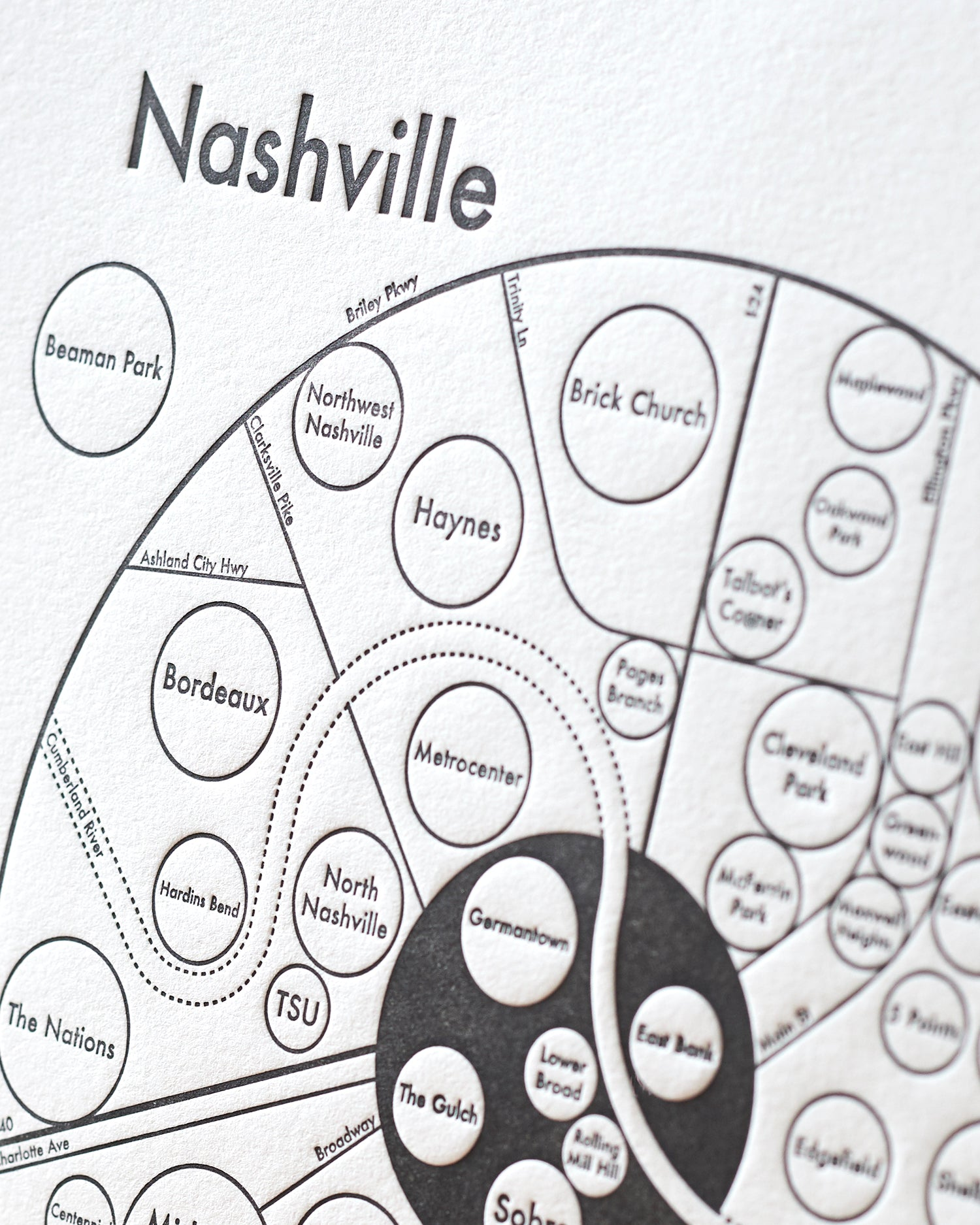 graphic relating to Printable Map of Nashville referred to as Nashville Map Print