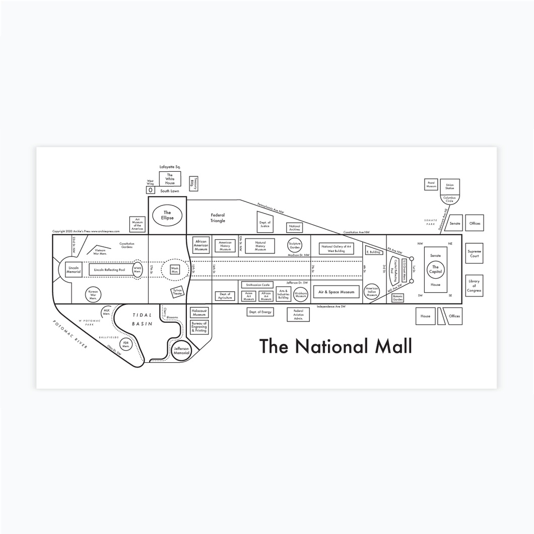 National Mall Map
