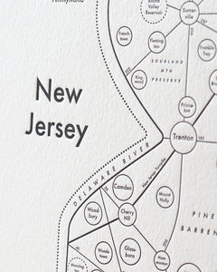 New Jersey Map Print