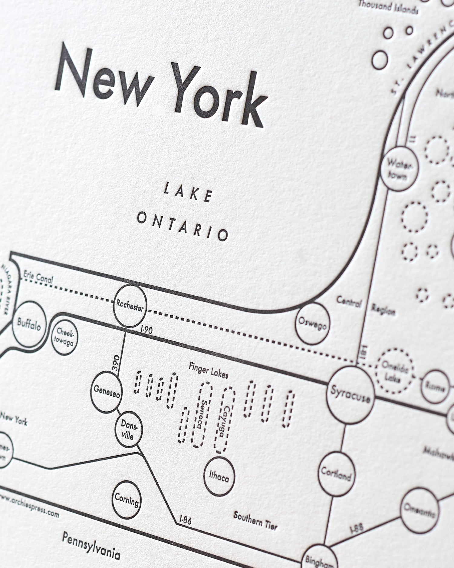 graphic about Printable Map of New York State titled Fresh York Place Map Print