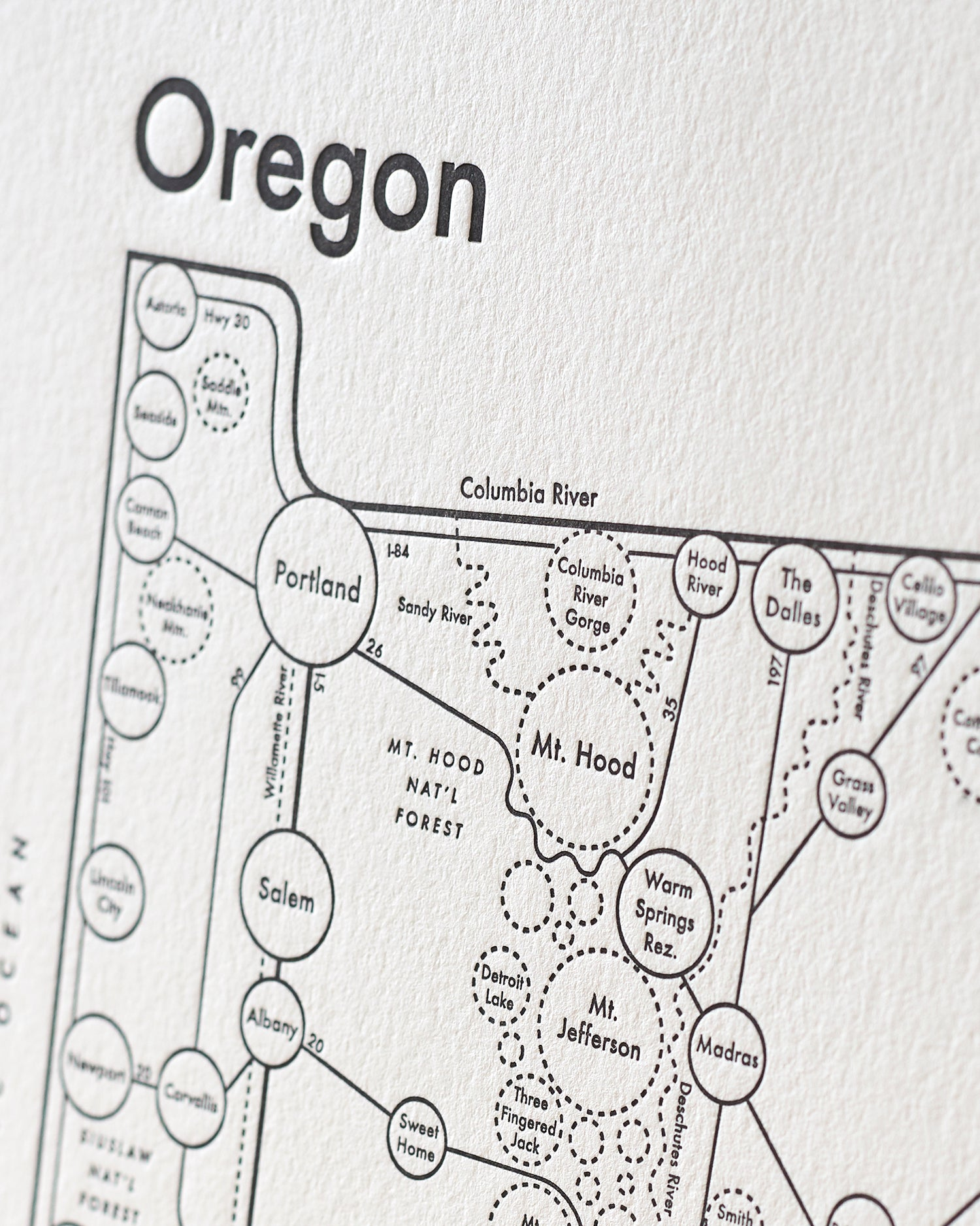 image about Printable Map of Oregon called Oregon Map Print