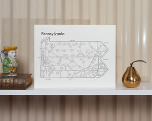 Pennsylvania Map Print