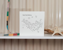 Saint Barthélemy Map Print