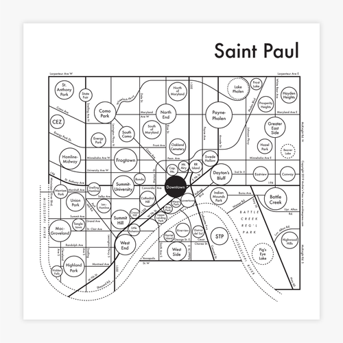 Saint Paul Map Print
