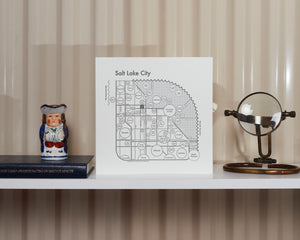Salt Lake City Map Print