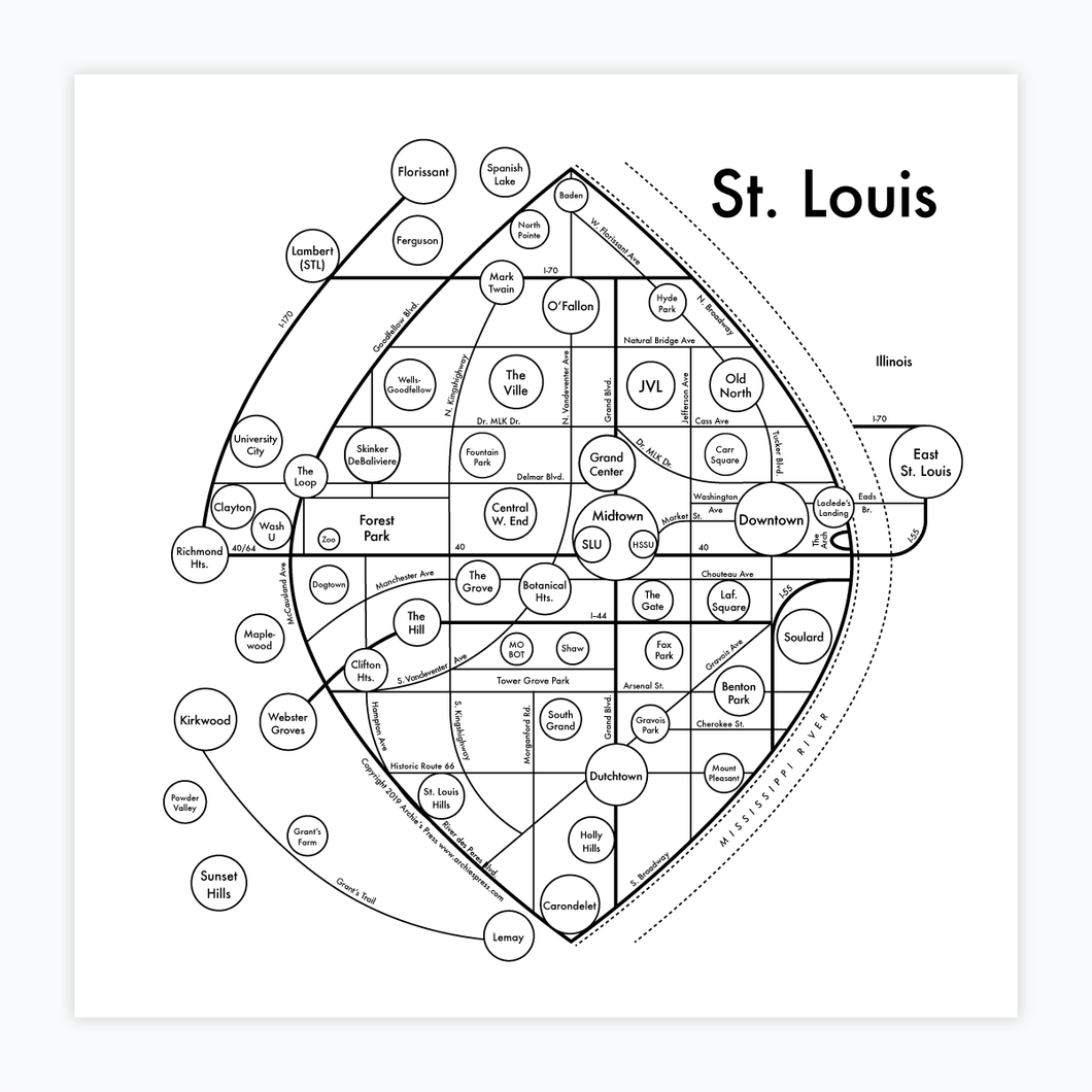 St. Louis Map Print