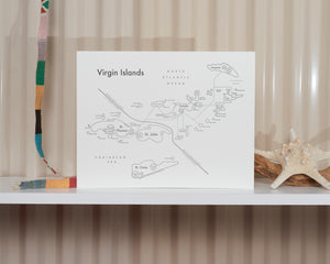 Virgin Islands Map Print