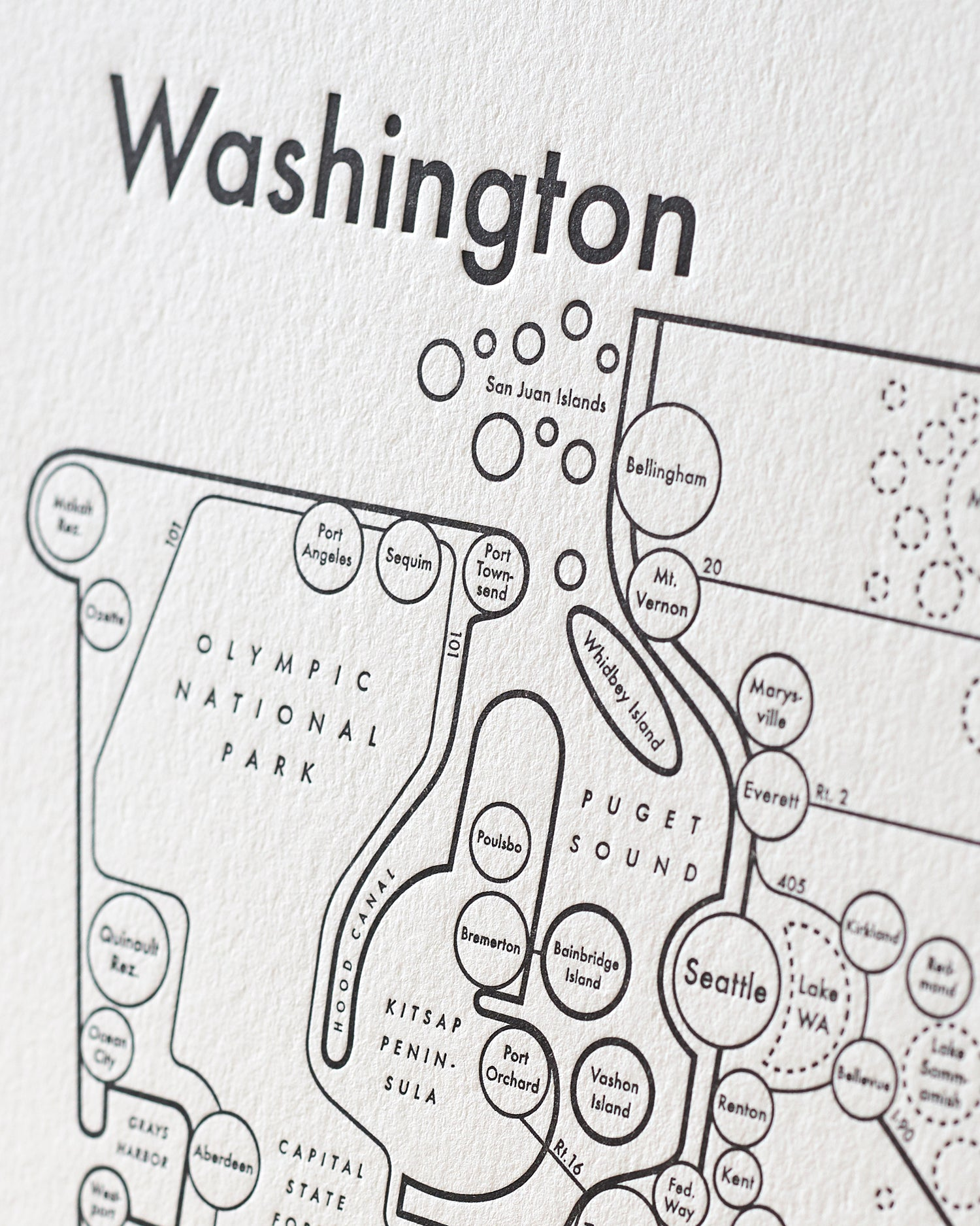 image about Printable Map of Washington State referred to as Washington Country Map Print