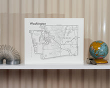 Washington State Map Print