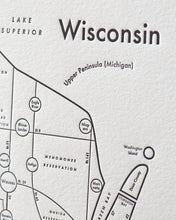 Wisconsin Map Print