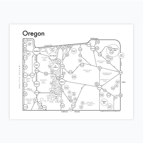Oregon Map Print