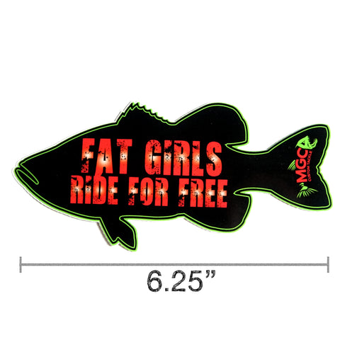 MGC Fat Girls Ride for Free Decals