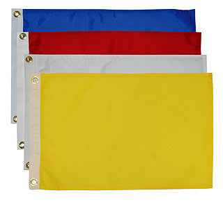 "12"" x 18"" Solid Color Nylon Flags"