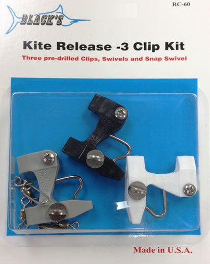 Black Marine RC60 Kite Release Clip Kit