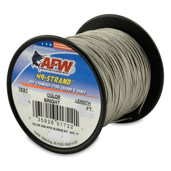 AFW 49 Strand, 7x7 Stainless Steel Shark Leader Cable
