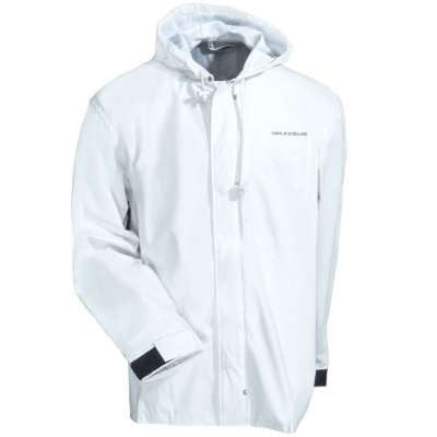 Grundens Men's White Water Resistant Hooded Petrus Jacket