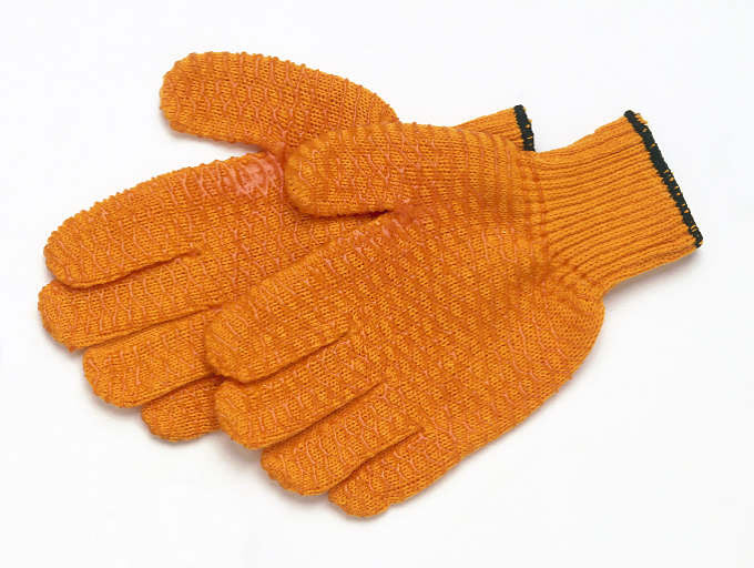 Orange No-Slip Snot Gloves