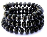 Black Beaded Wrap Bracelet--the perfect addition to your own wardrobe or a great GIFT for HER! Grab yours here https://wrist-flair.myshopify.com/collections/stretchy-wrap-bracelets/products/black-wrap-bracelet