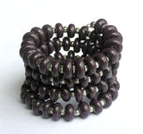 purple triple strand bracelet for women