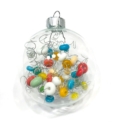 colorful glass beaded Christmas ornament