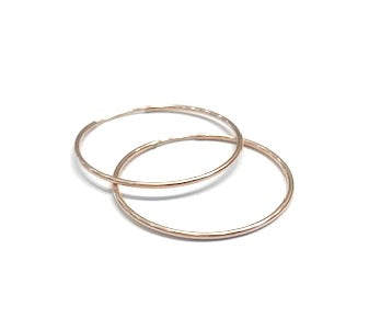 1.5 inch rose gold hoops
